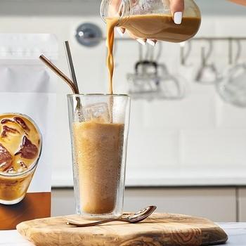 Eiwit rijke koffie-latte